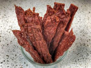 spicy-beef-jerky-recipe-finished-in-a-glass-ready-to-eat